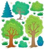 Raccolta 1 di tema dell'albero Immagini Stock