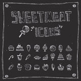 Raccolta di tiraggio dei dolciumi Fotografie Stock