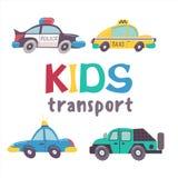 Raccolta di trasporto dei bambini royalty illustrazione gratis