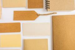 Raccolta di vari carta, cartone, etichetta, carta e libro con Immagini Stock