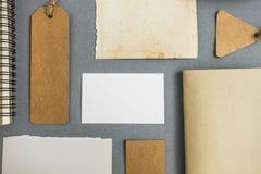 Raccolta di vari carta, cartone, etichetta, carta e libro con Immagini Stock Libere da Diritti