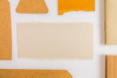 Raccolta di vari carta, cartone, etichetta, carta e libro con Immagine Stock