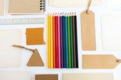 Raccolta di vari carta, cartone, etichetta, carta, libro e colo Immagine Stock Libera da Diritti