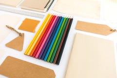 Raccolta di vari carta, cartone, etichetta, carta, libro e colo Fotografie Stock