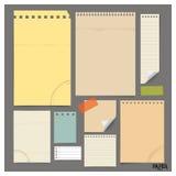 Raccolta di varie carte d'annata (strati, carta per appunti di carta), Immagini Stock Libere da Diritti