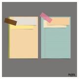 Raccolta di varie carte d'annata (strati, carta per appunti di carta), Fotografia Stock