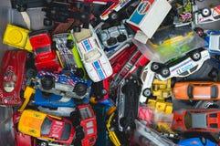 Raccolta di vecchi giocattoli dell'automobile Fotografia Stock Libera da Diritti