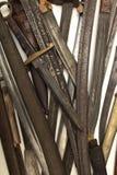 Raccolta di vecchi spade e pugnali Immagine Stock Libera da Diritti