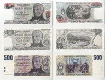 Raccolta di vecchia Banca delle banconote dell'Argentina Fotografia Stock Libera da Diritti
