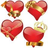 Raccolta di vetro del cuore royalty illustrazione gratis