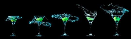 Raccolta di vetro di Martini Immagine Stock Libera da Diritti
