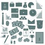 Raccolta di vettore di affari delle icone Fotografie Stock