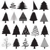 Raccolta di vettore degli alberi di Natale Fotografia Stock