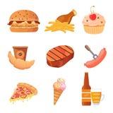 Raccolta di vettore degli alimenti industriali illustrazione vettoriale