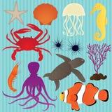 Raccolta di vettore degli animali di mare Fotografia Stock
