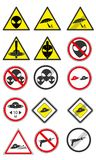 Raccolta di vettore dei segnali stradali del UFO Parte 1 Fotografia Stock