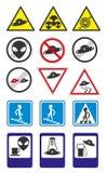Raccolta di vettore dei segnali stradali del UFO Parte 2 Fotografie Stock