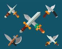 Raccolta di vettore dell'arma dei coltelli Immagini Stock