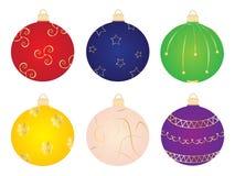 Raccolta di vettore dell'ornamento delle palle di Natale Fotografia Stock Libera da Diritti