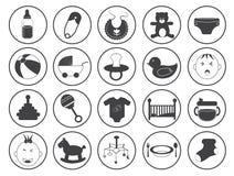 Raccolta di vettore delle icone del bambino Immagine Stock Libera da Diritti