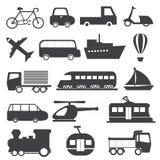 Raccolta di vettore delle icone del trasporto Fotografia Stock