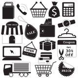 Raccolta di vettore delle icone di acquisto Fotografia Stock