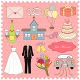 Raccolta di vettore delle icone di nozze Fotografia Stock Libera da Diritti