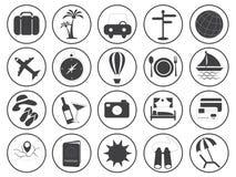 Raccolta di vettore delle icone di viaggio Fotografia Stock Libera da Diritti
