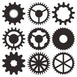 Raccolta di vettore delle ruote di ingranaggio Immagini Stock