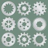 Raccolta di vettore delle ruote di ingranaggio del metallo royalty illustrazione gratis