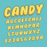 Raccolta di vettore handcrafted progettazione di alfabeto royalty illustrazione gratis