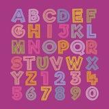 Raccolta di vettore handcrafted progettazione di alfabeto illustrazione di stock