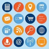 Raccolta di vettore: icone di Internet Fotografia Stock Libera da Diritti