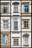Raccolta di Vienna Windows Immagini Stock Libere da Diritti