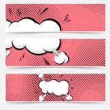 Raccolta di web del libro di fumetti di esplosione di Pop art Fotografie Stock