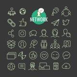 Raccolta differente di vettore delle icone della rete Fotografie Stock