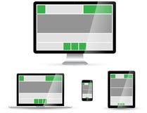 Raccolta digitale moderna del dispositivo di tecnologia Fotografia Stock Libera da Diritti