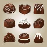 Raccolta dolce dei tartufi di cioccolato Fotografie Stock