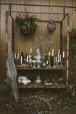 Raccolta eclettica delle candele e degli oggetti Immagine Stock