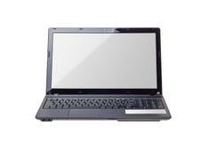 Raccolta elettronica - computer portatile moderno isolato sul backgrou bianco Fotografia Stock Libera da Diritti