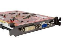 Raccolta elettronica - videocard del computer Fotografia Stock Libera da Diritti