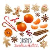 Raccolta enorme dei dolci di Natale Fotografia Stock