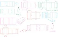 Raccolta 09 ENV del modello della scatola Fotografie Stock