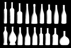 Raccolta ENV 10 dell'icona della bottiglia di vino Immagini Stock