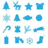 Raccolta eps10 dell'icona di Natale Illustrazione di Stock