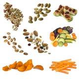 Raccolta facente un spuntino sana dell'alimento Immagini Stock Libere da Diritti
