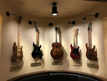 Raccolta famosa della chitarra fotografia stock