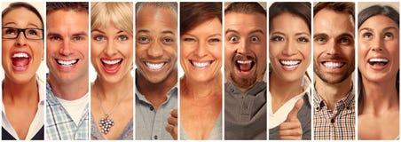 Raccolta felice della gente Fotografie Stock Libere da Diritti