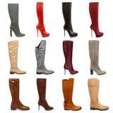 Raccolta femminile delle calzature Immagini Stock