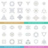 Raccolta floreale del logos Grande insieme degli elementi di turbinio di vettore per progettazione illustrazione vettoriale